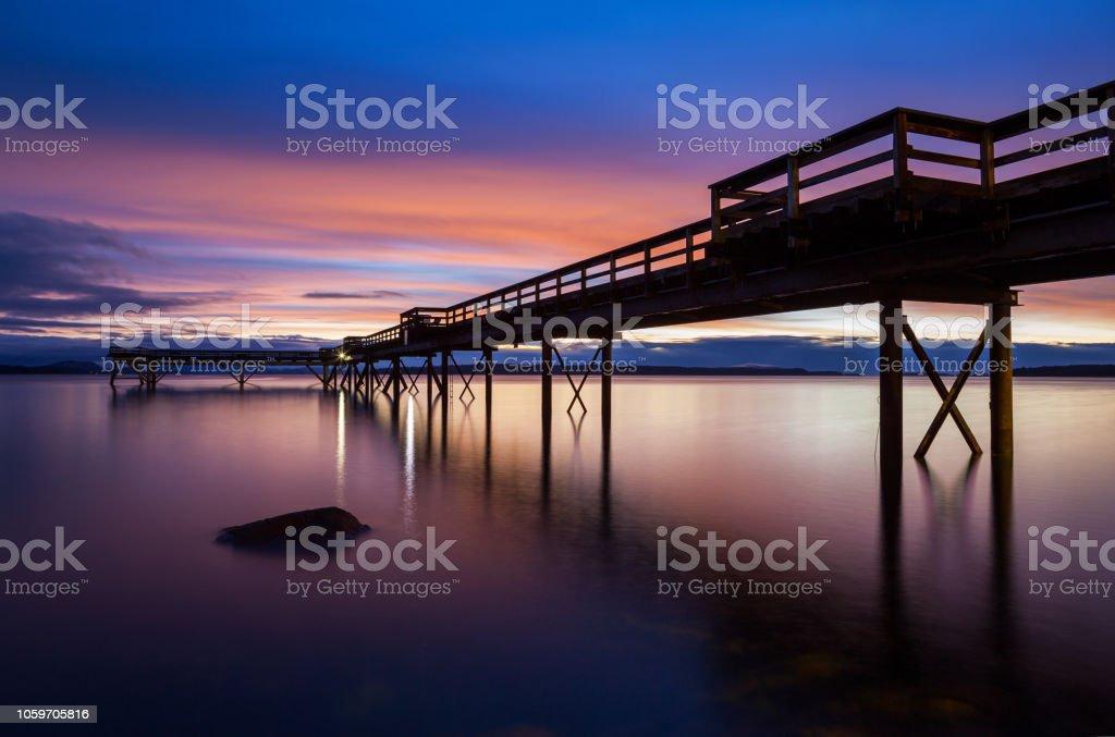 Sidney BC Pier stock photo