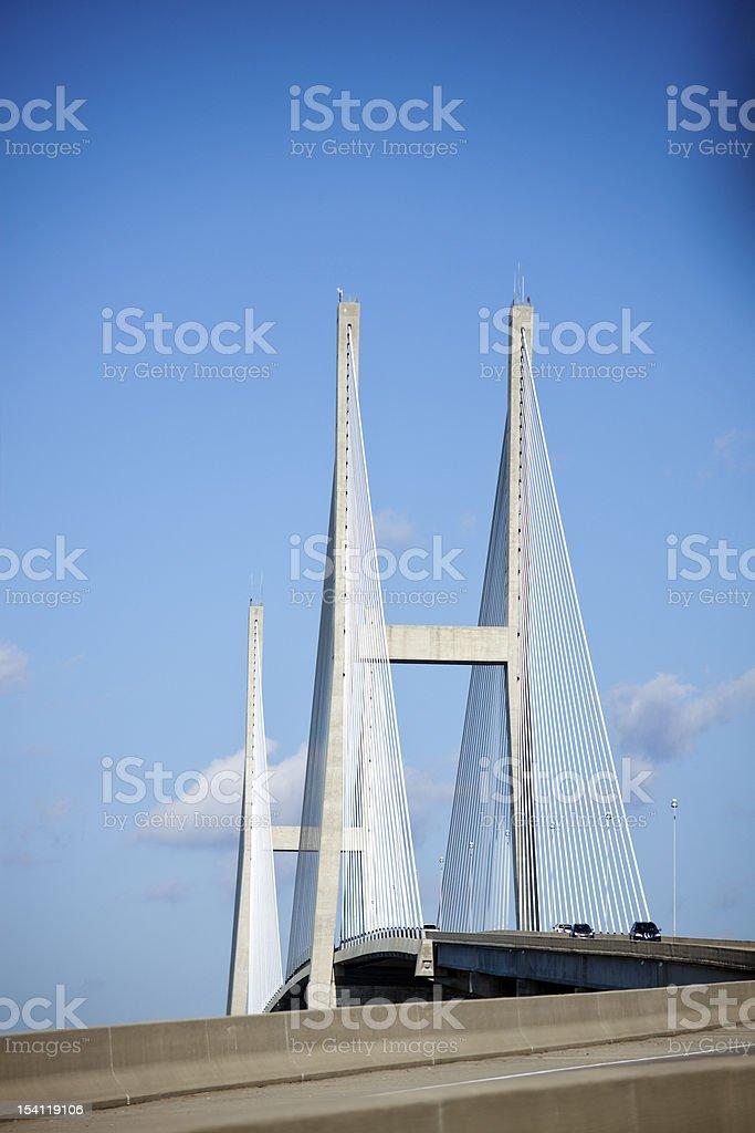 Sidney Lanier Bridge in Brunswick stock photo