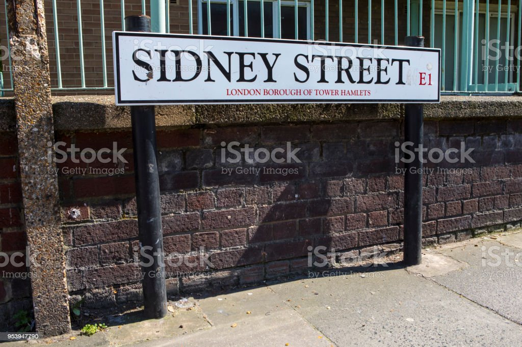 Sidney Street in London, UK stock photo