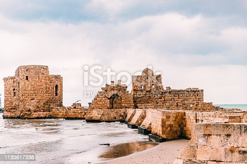 Nature, Ocean, Seascape, Lebanon, Middle East - Famous Tourist Attraction in Saida Lebanon