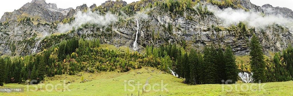 Siebenbrunnen in Simmental panorama royalty-free stock photo