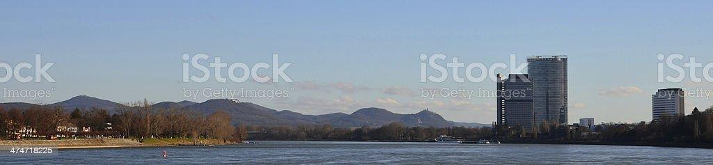 Siebengebirge panorama stock photo