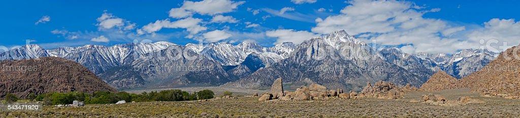 Sieera Nevada in Lone Pine stock photo