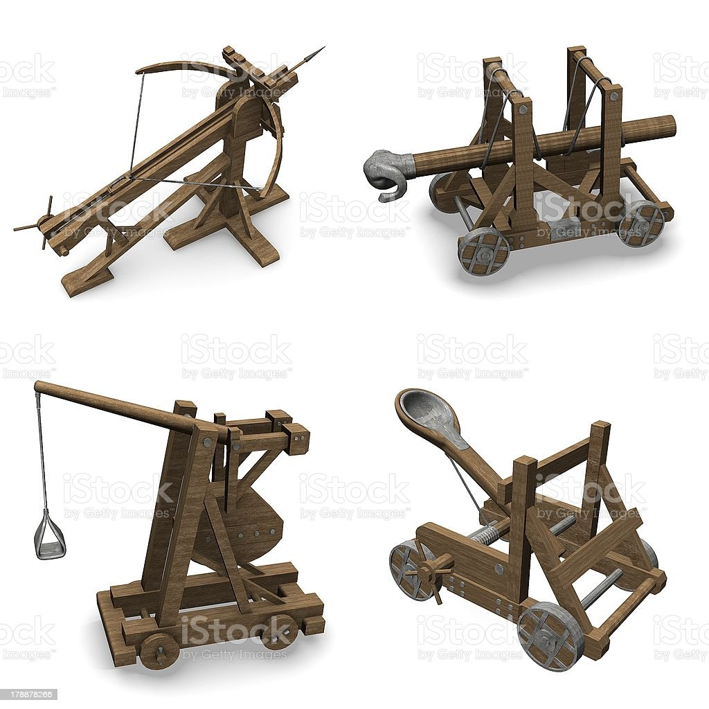 siege weapons stock photo