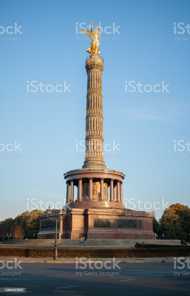 Siegessaule Victory column in Berlin Germany stock photo