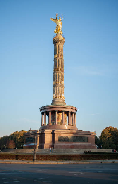 Siegessaule Victory column in Berlin Germany stock photo