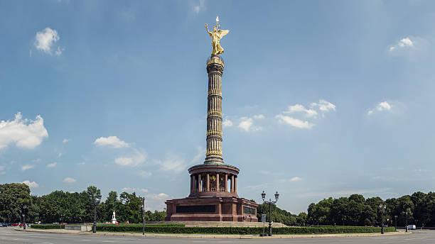 siegessäule、ベルリン - グローサーシュテルン広場 ストックフォトと画像