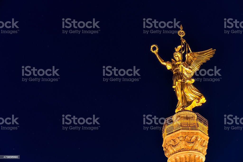 Siegessäule in Berlin stock photo