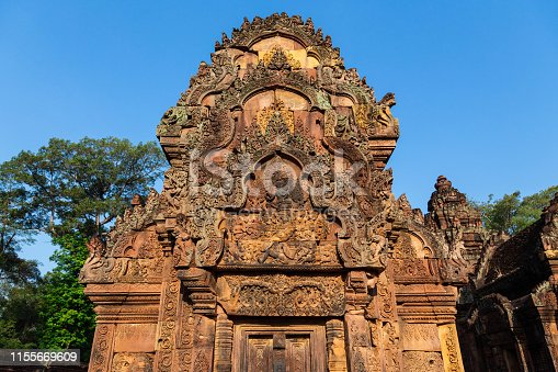 Siem Reap, Cambodia Banteay Srei Temple(Queen Palace) relief