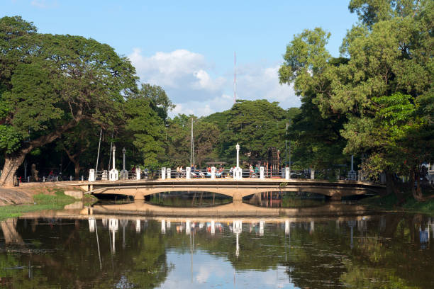 Siem Reap, Cambodia  has  a picturesque city centre stock photo