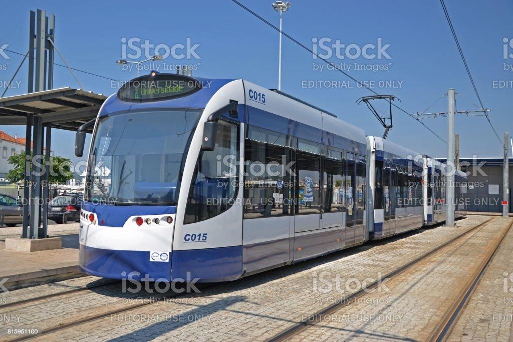 Siemens Combino tram on the tram loop