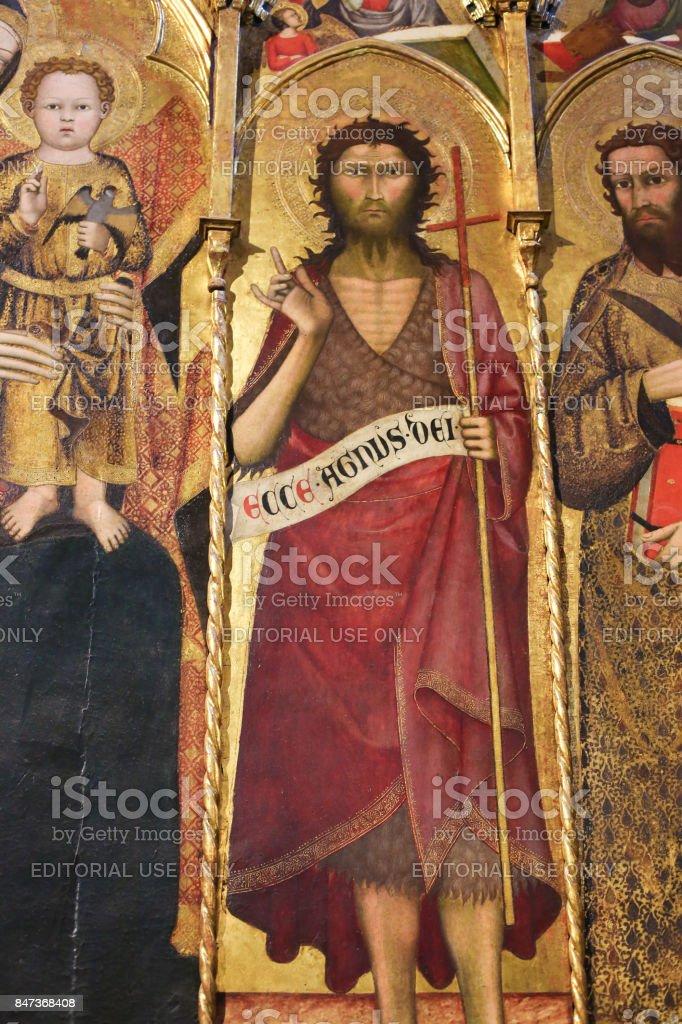 Batistério de Siena - Polyptich de São João Batista - foto de acervo
