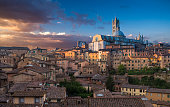 Siena - Italy, Duomo Di Siena, Sunset, Built Structure, Cathedral