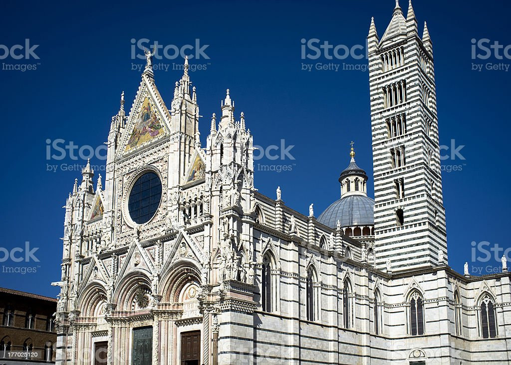 Siena Cathedral Exterior stock photo