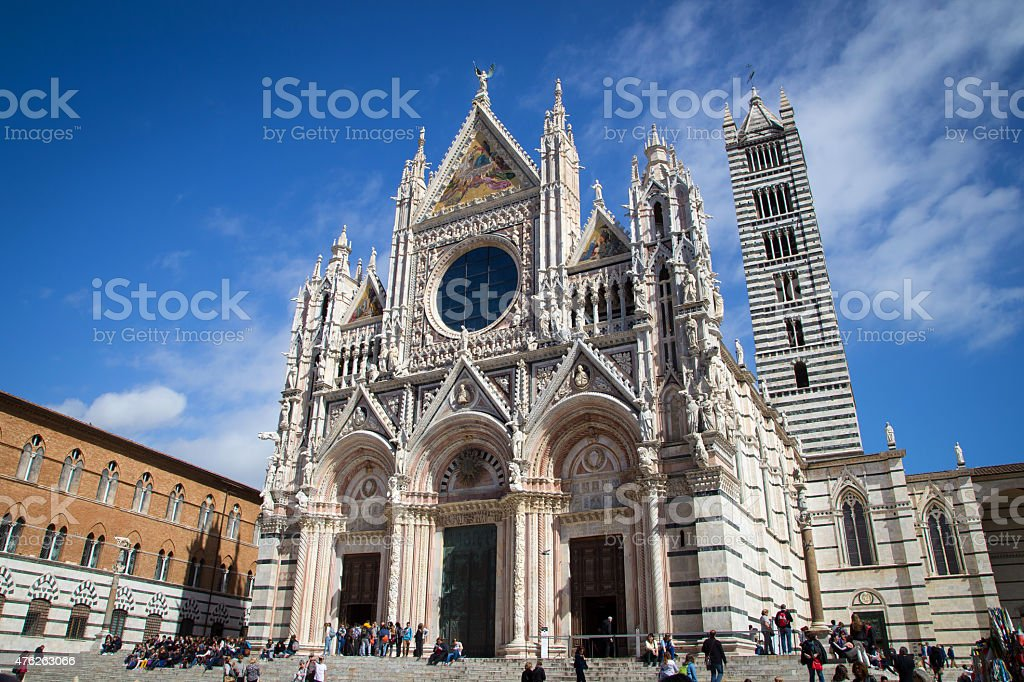 Siena Cathedral in Tuscany stock photo