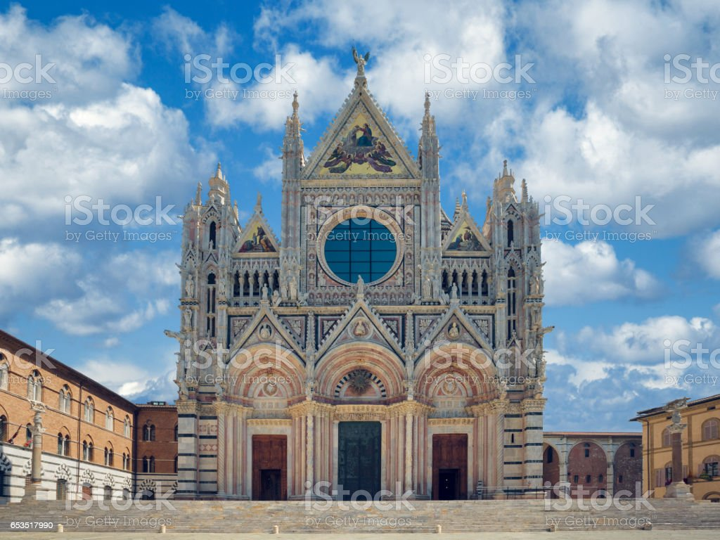 Siena Cathedral, Italy stock photo