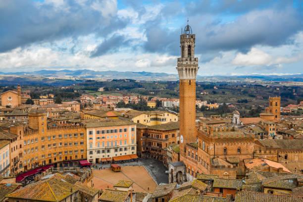 Siena cityscape stock photo