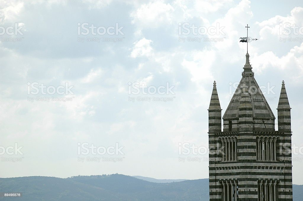 Siena Duomo Skyline royalty free stockfoto