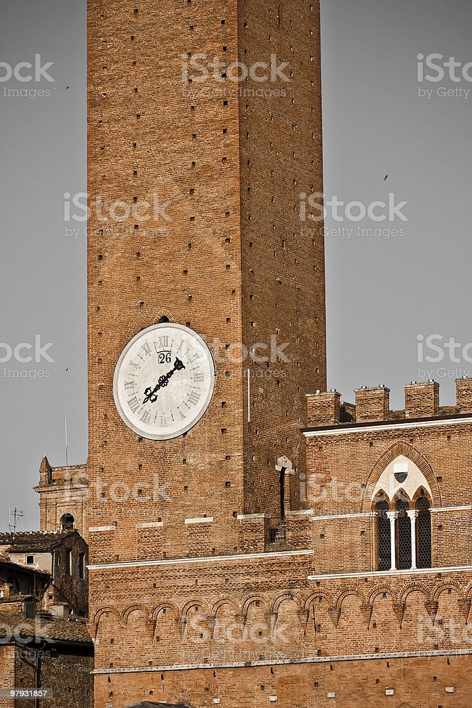 Siena historic architecture royalty-free stock photo