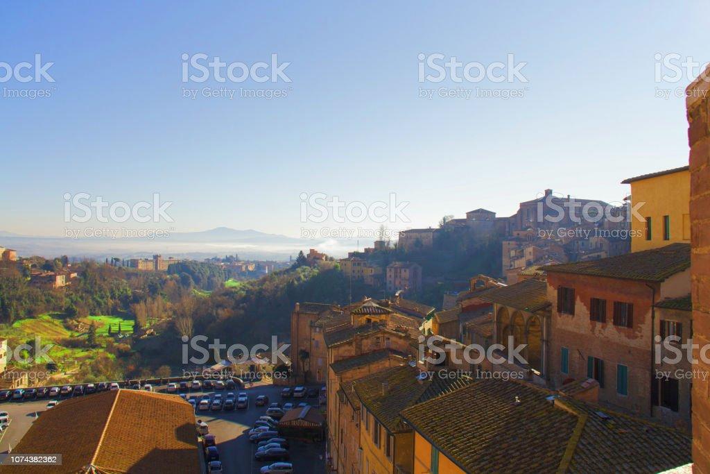 Siena in winter стоковое фото