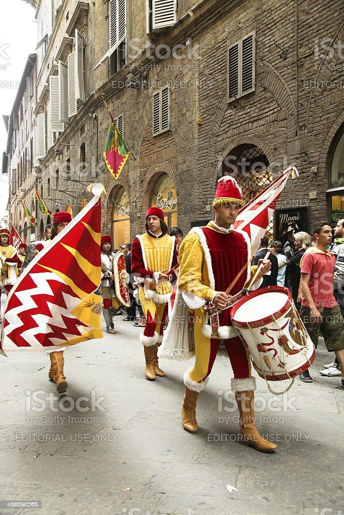 Siena Parade stock photo
