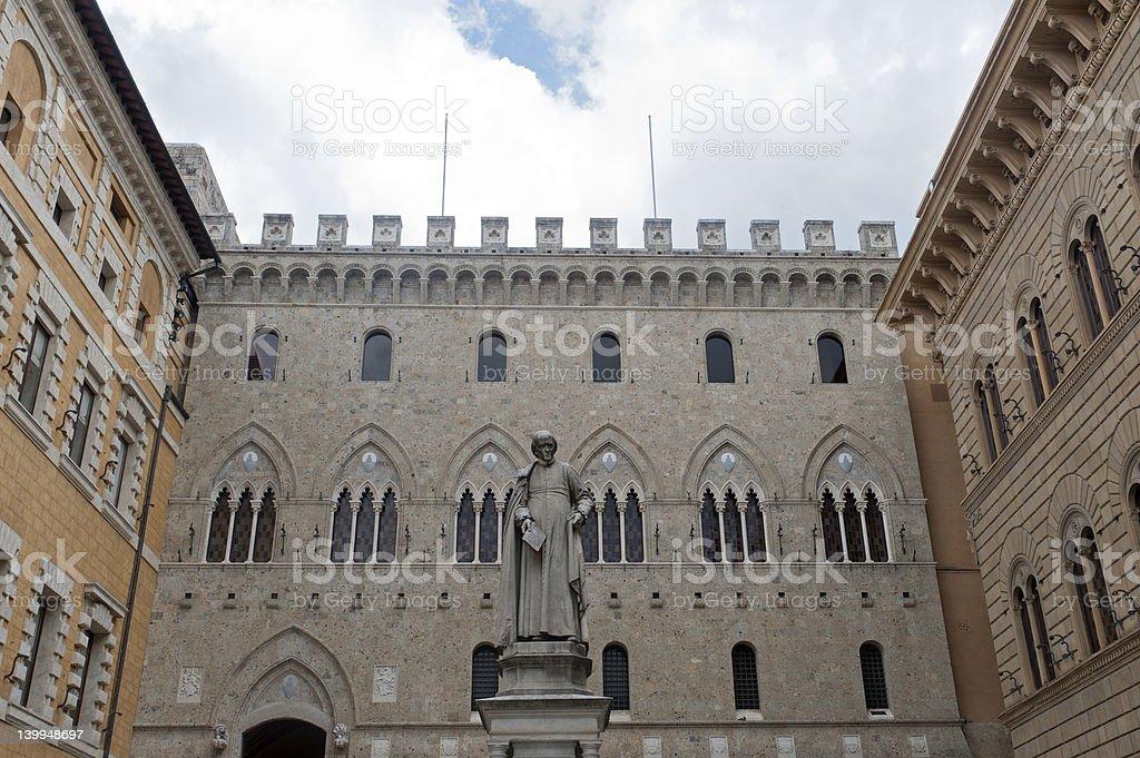 Siena, Piazza Salimbeni stock photo