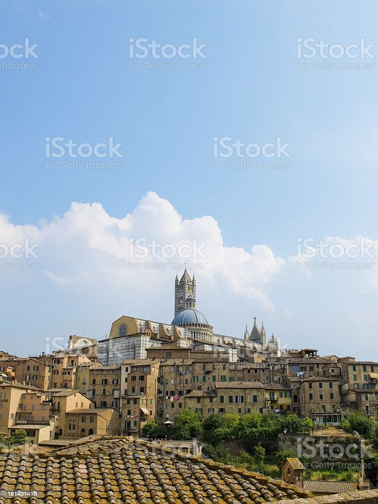 Siena view with the Duomo in top. Italy royalty-free stock photo
