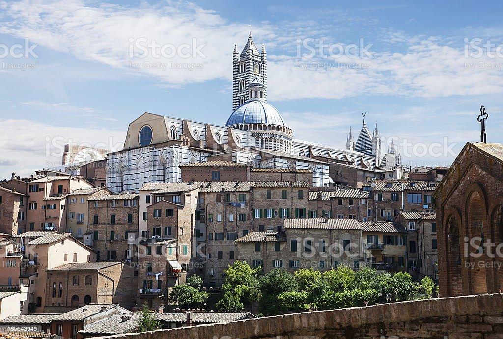 Sienna Skyline with Duomo. Tuscany Italy royalty-free stock photo