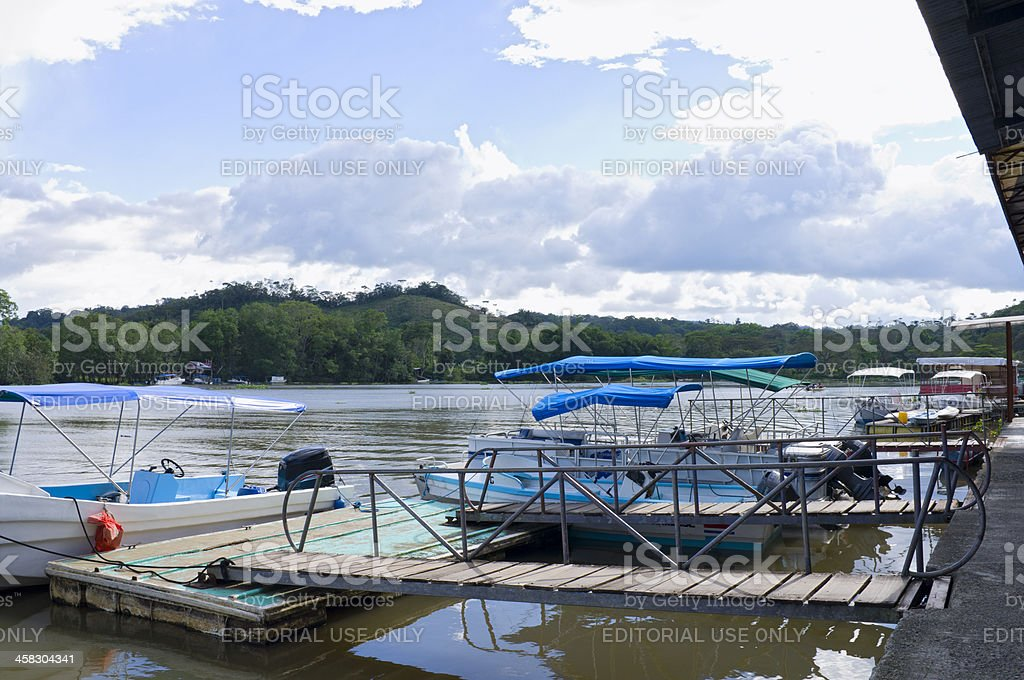 Sierpe Boat Taxis in Osa Peninsula royalty-free stock photo