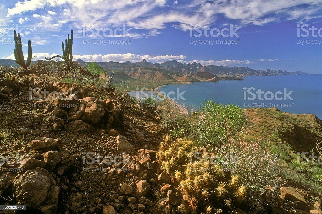 Sierra de la Giganta Vista stock photo