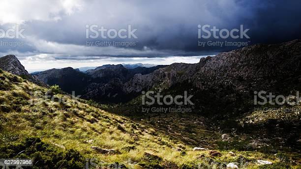 Sierra de tramuntana mountains on majorca under moody sky picture id627997986?b=1&k=6&m=627997986&s=612x612&h=p yc37ivz jgulqtbw7wbl1q0lr4h qyiqogmnkja4y=