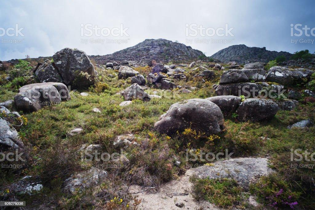 Sierra Landscape in Minho stock photo