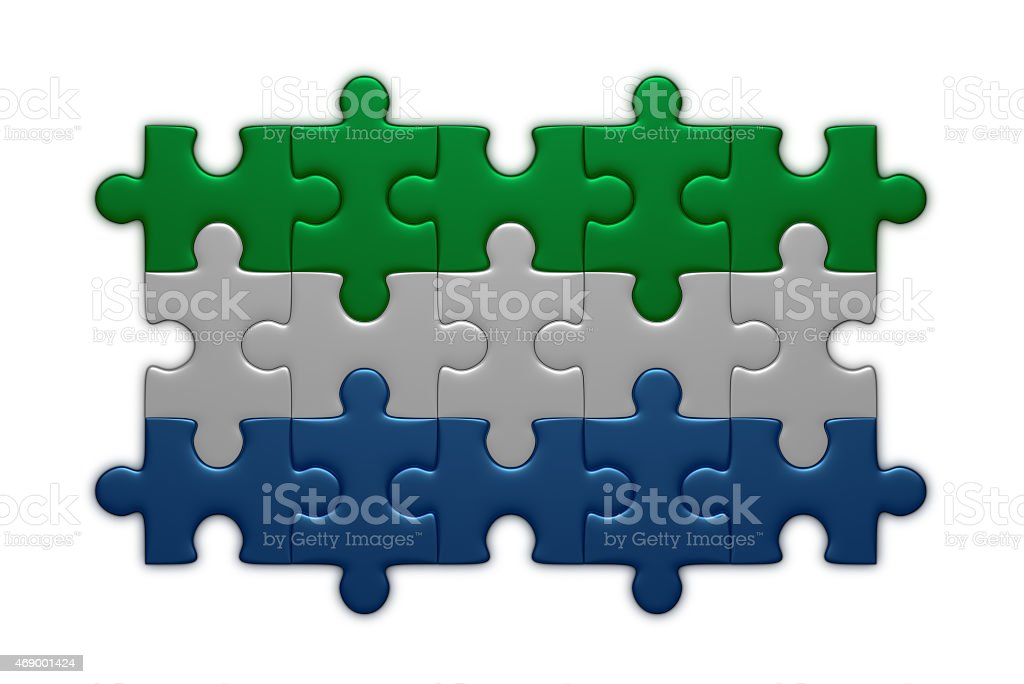 Sierra Leone flag of puzzles stock photo