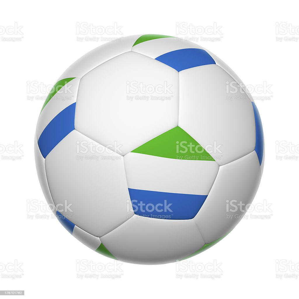 Sierra Leone soccer ball stock photo