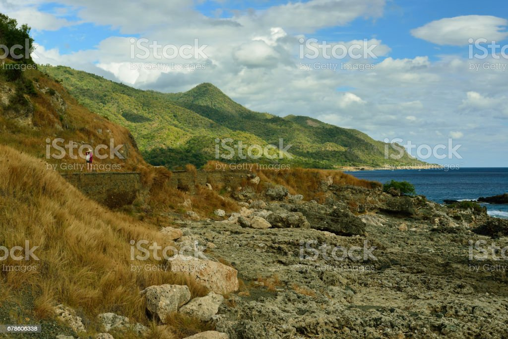 Sierra Maestra the coast of the Caribbean sea, Cuba stock photo
