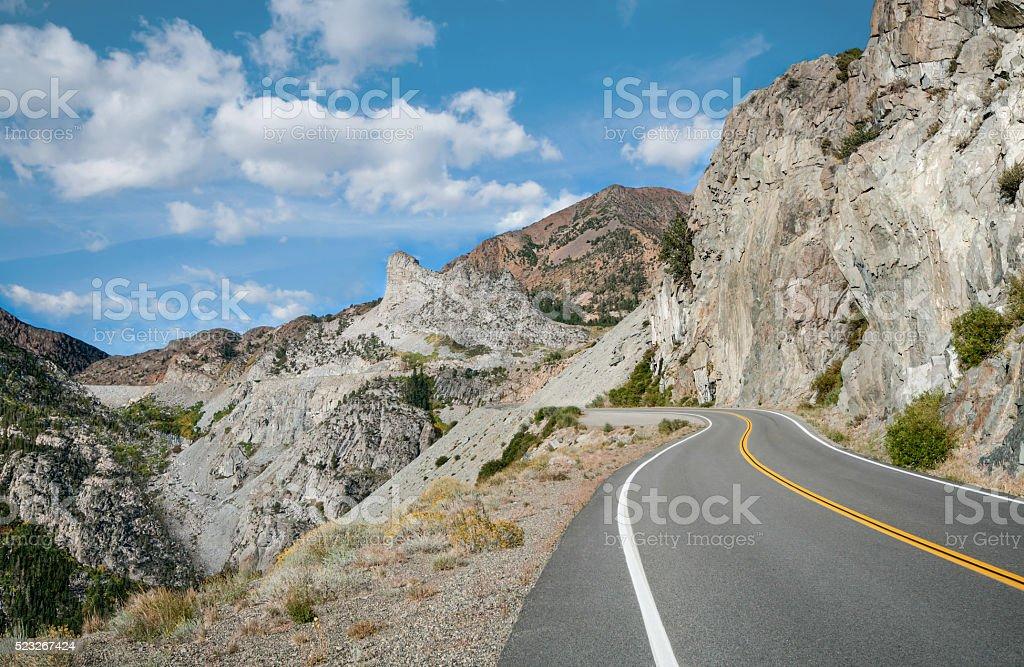 Sierra Mountain Pass stock photo