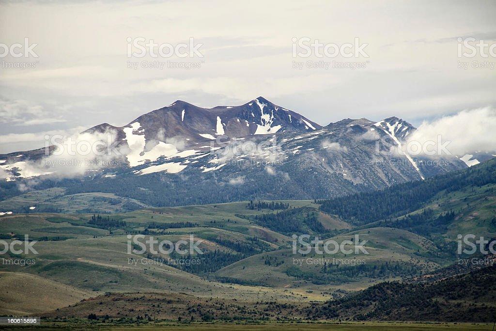 Sierra Mountains Near Bishop, California royalty-free stock photo