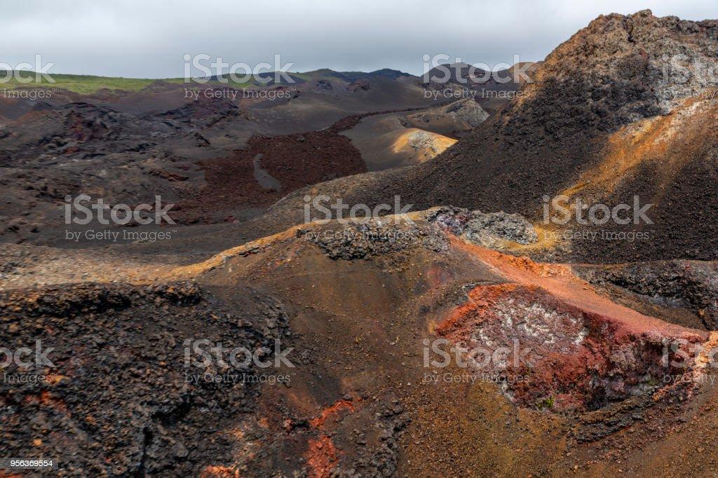 Sierra Negra Volcano, Isabella Island in Galapagos Islands, Ecuador stock photo