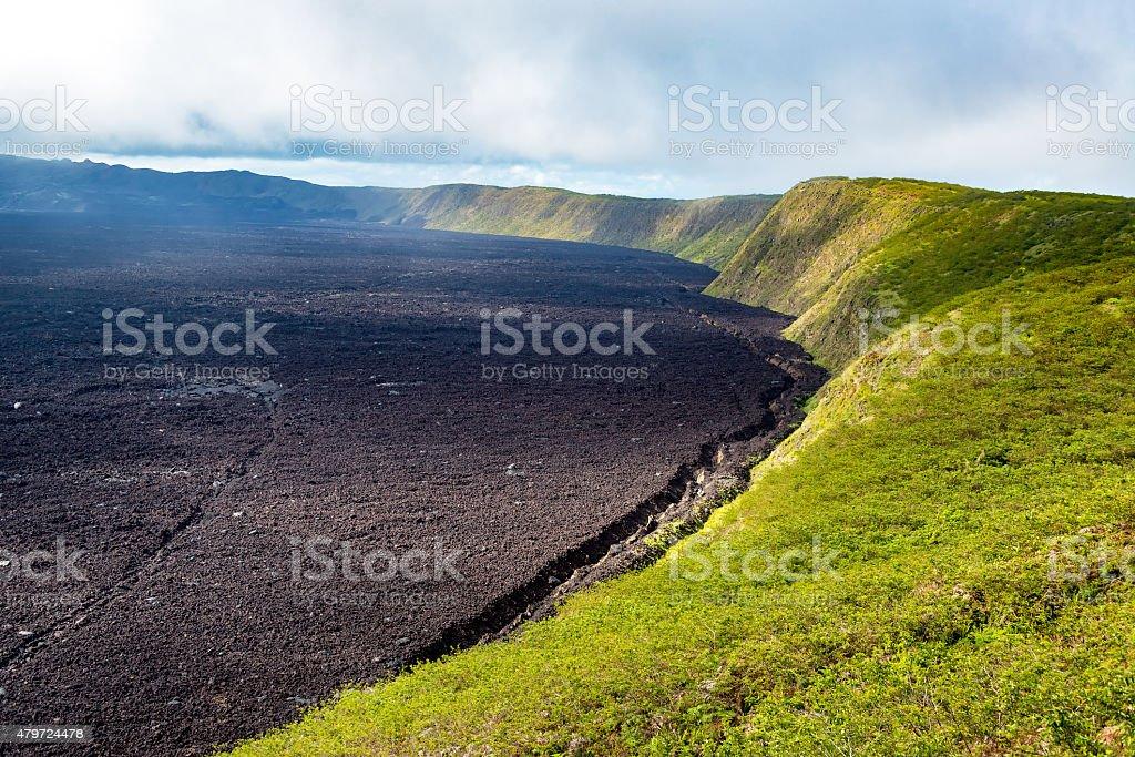 Sierra Negra Volcano stock photo