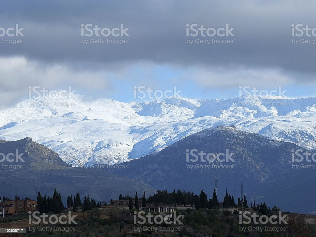 Sierra Nevada Above Granada stock photo