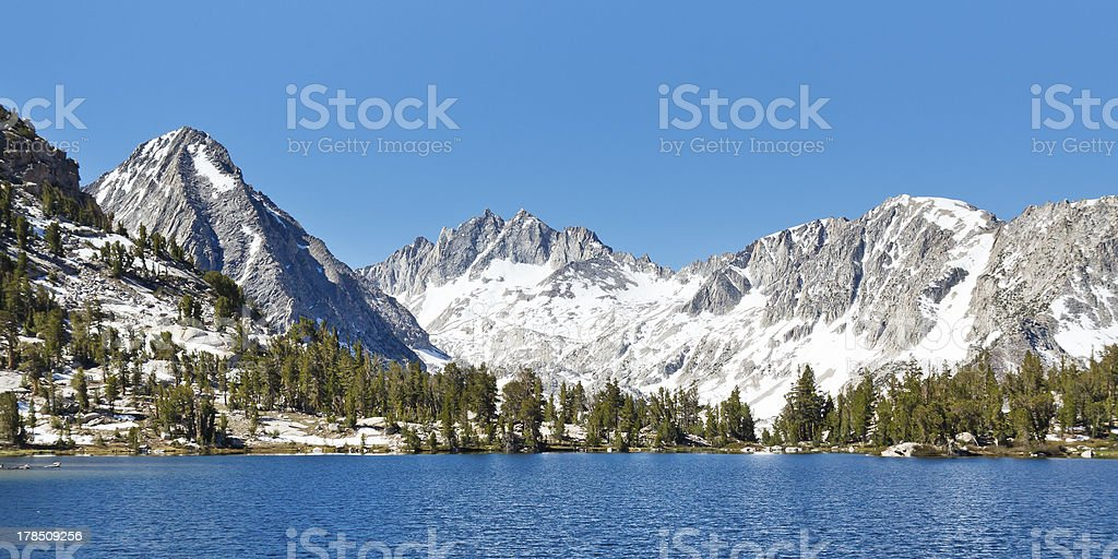 Sierra Nevada Alpine Lake Scenery stock photo
