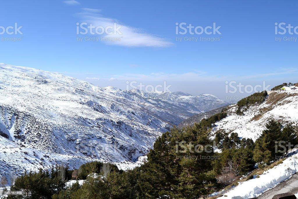 Sierra Nevada in Granada stock photo