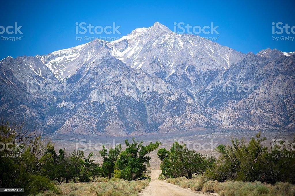 Sierra Nevada Mountain Range in California stock photo