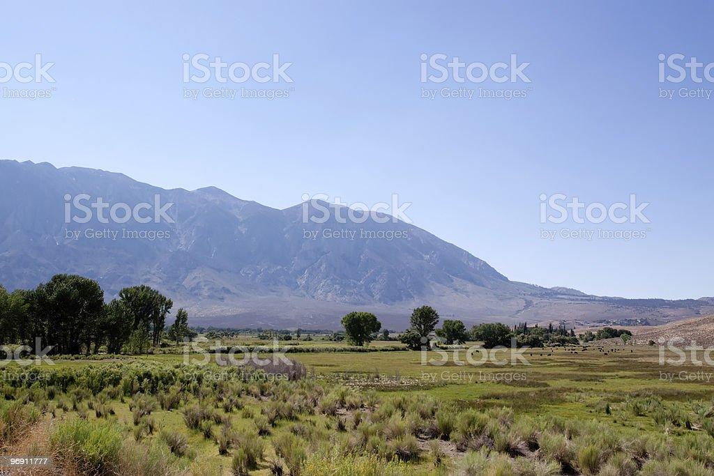 Sierra Nevada mountain range in California royalty-free stock photo