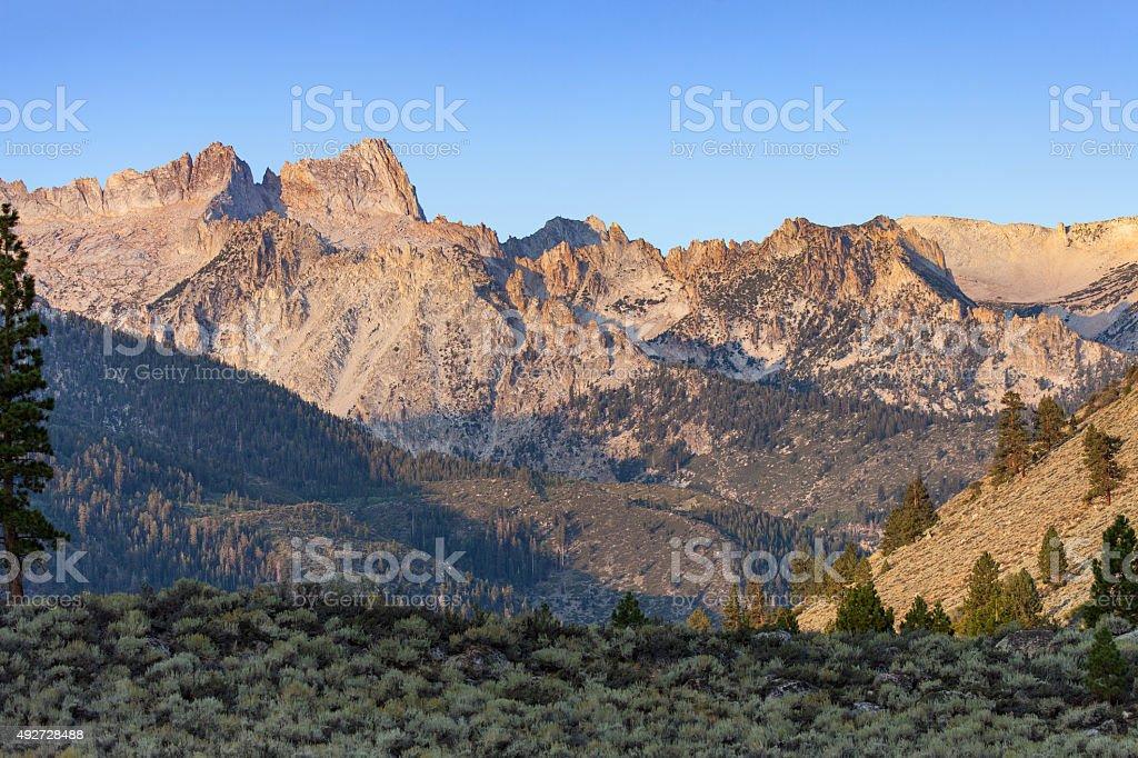 Sierra Nevada Sawtooth Ridge stock photo