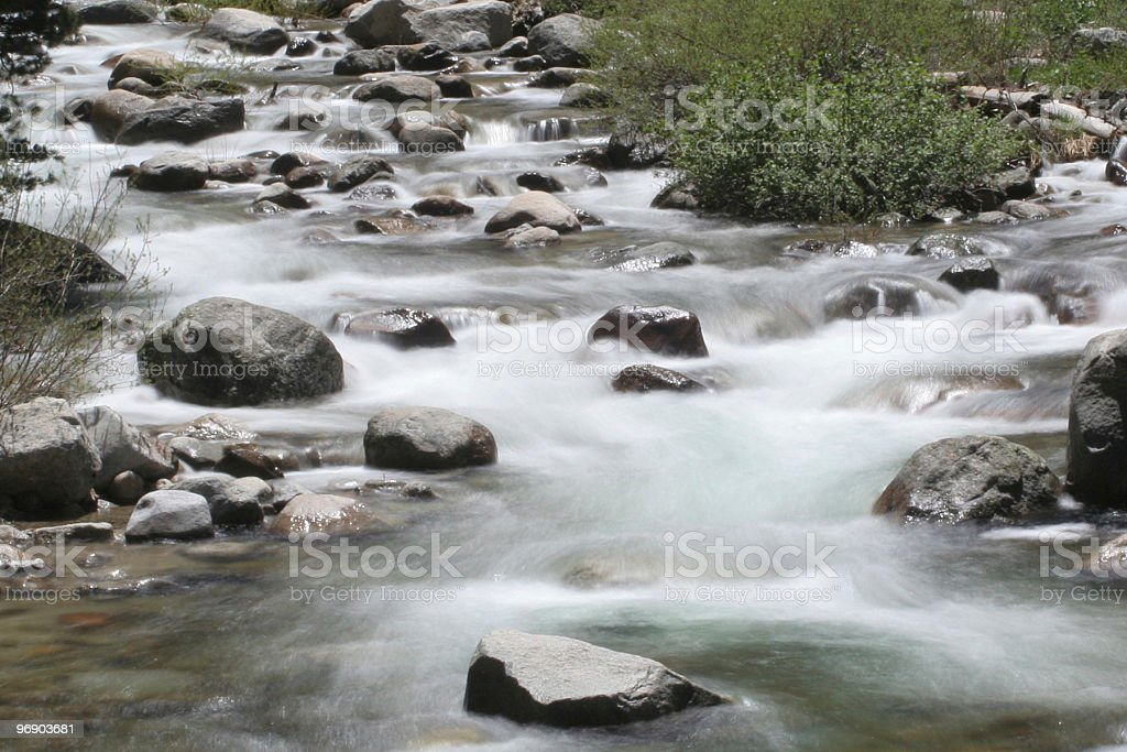 Sierra Nevada Stream - smoked royalty-free stock photo