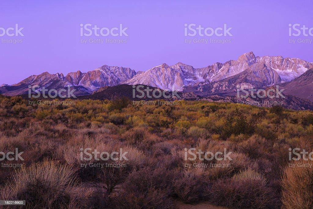 Sierra Nevadas Morning stock photo