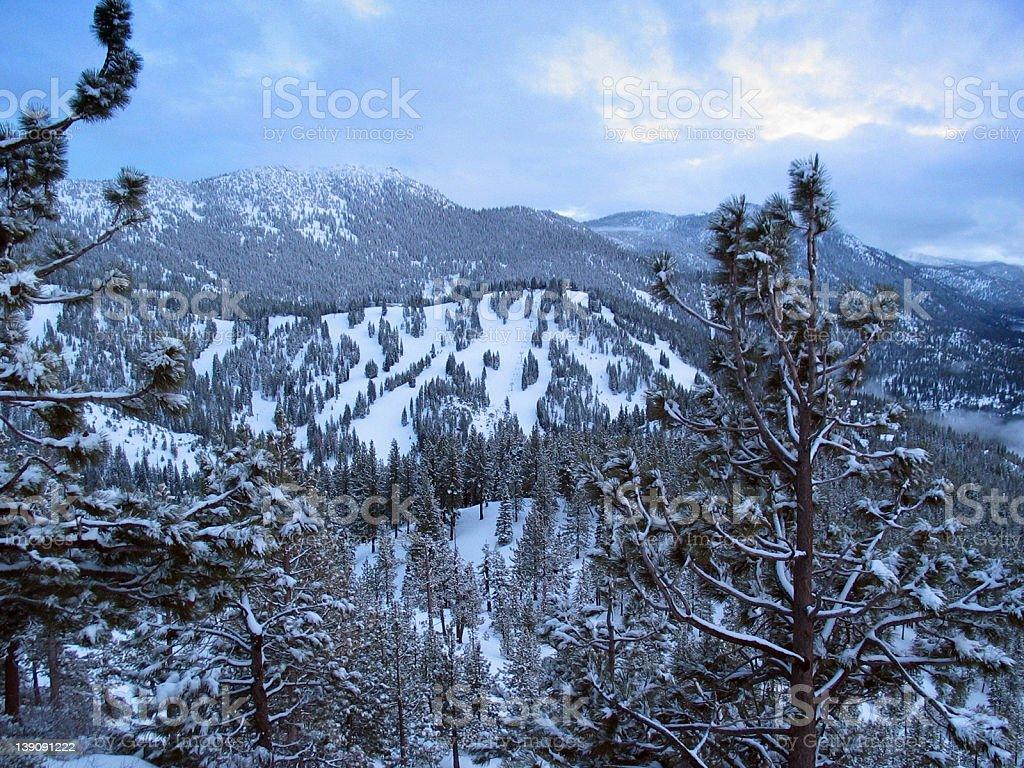 Sierra Ski Resort stock photo