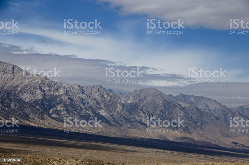 Sierra's Under Clouds stock photo