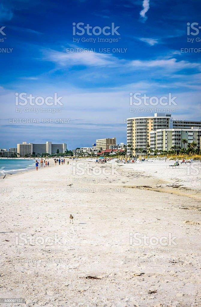 Siesta Key beach perto de Sarasota, na Flórida - foto de acervo